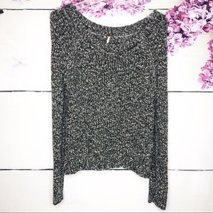 Free People | Scoop Neck Marbled Sweater